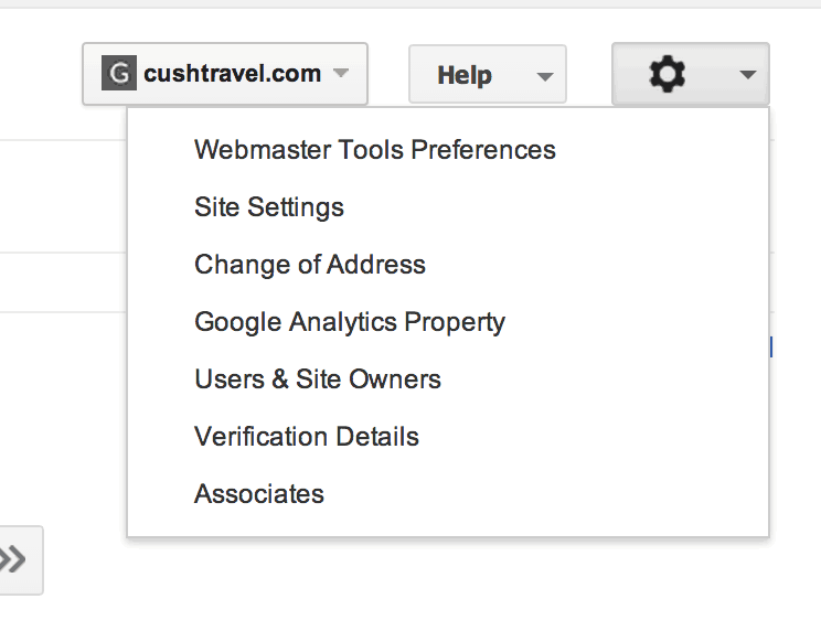 Google Webmaster tools connecting process to Google Analytics