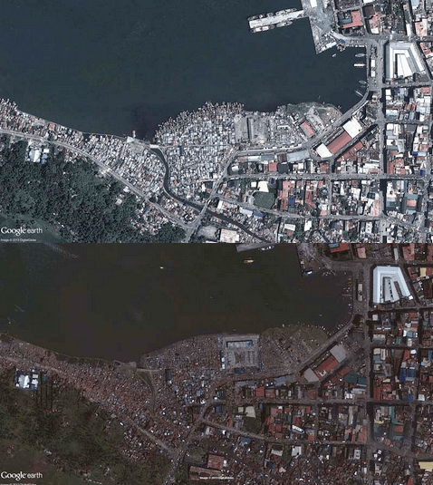 before & after yolanda haiyan Philippines