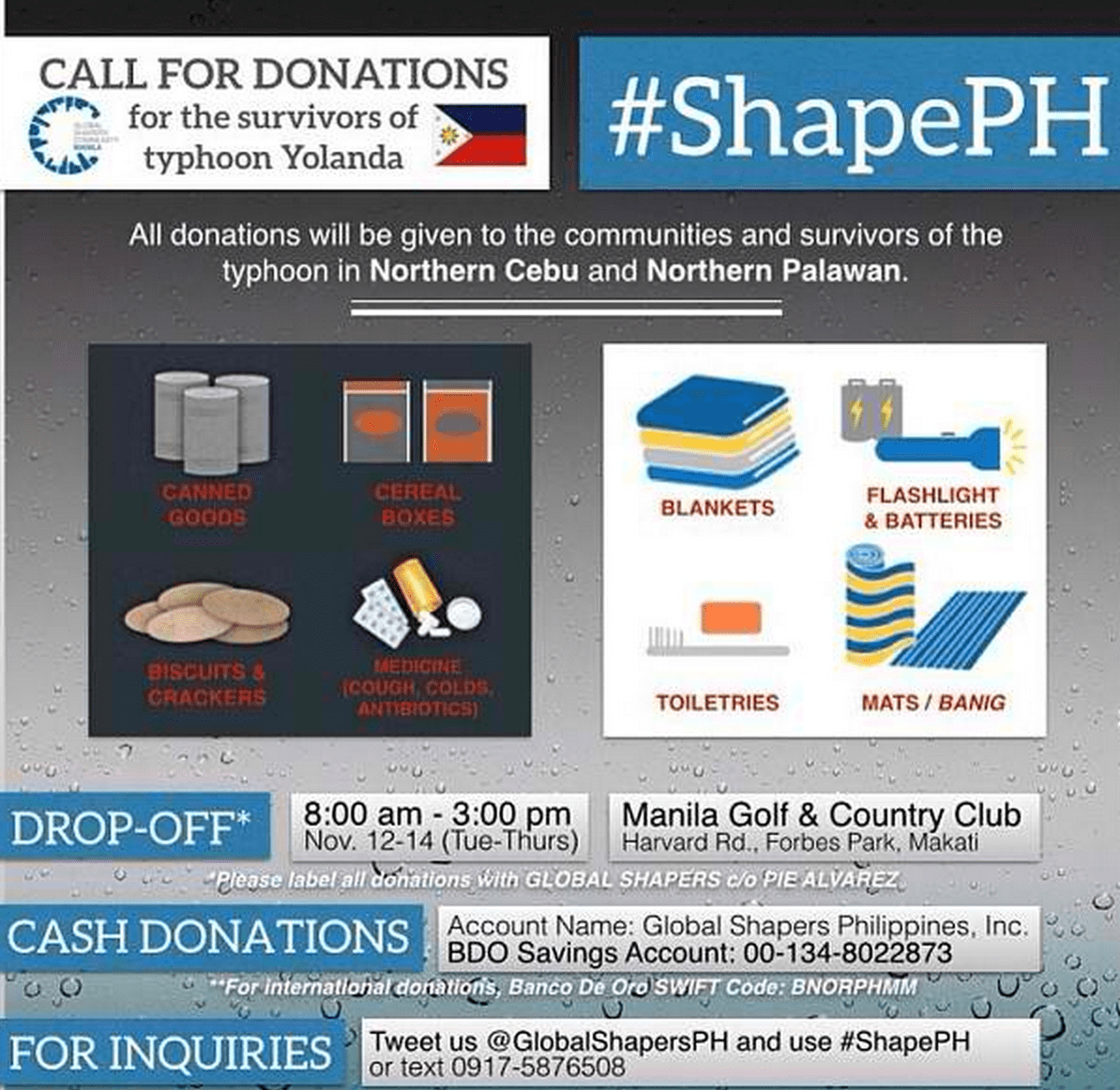 #ShapePH for Donations