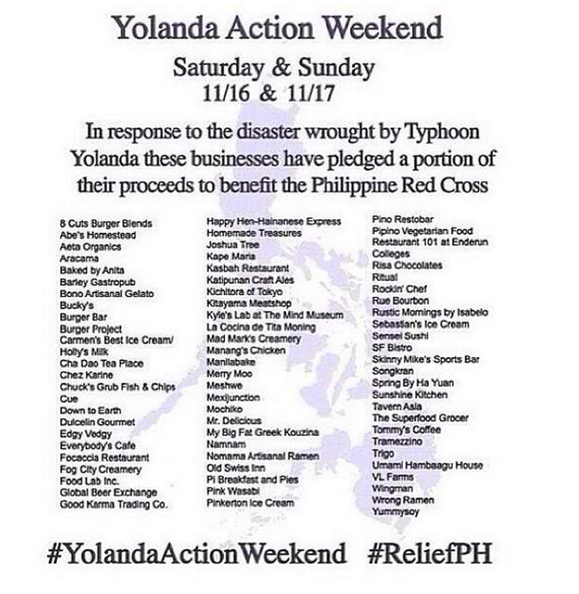 #ReliefPH