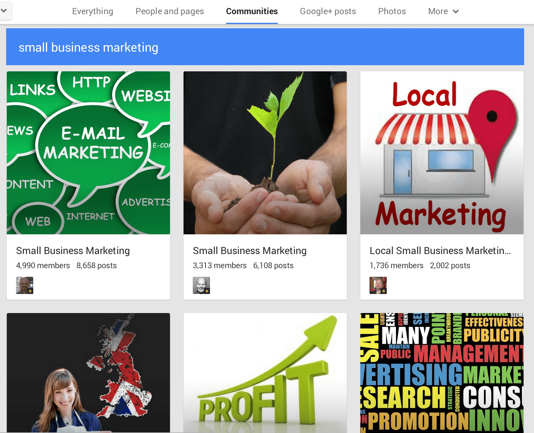 google+ communities business marketing