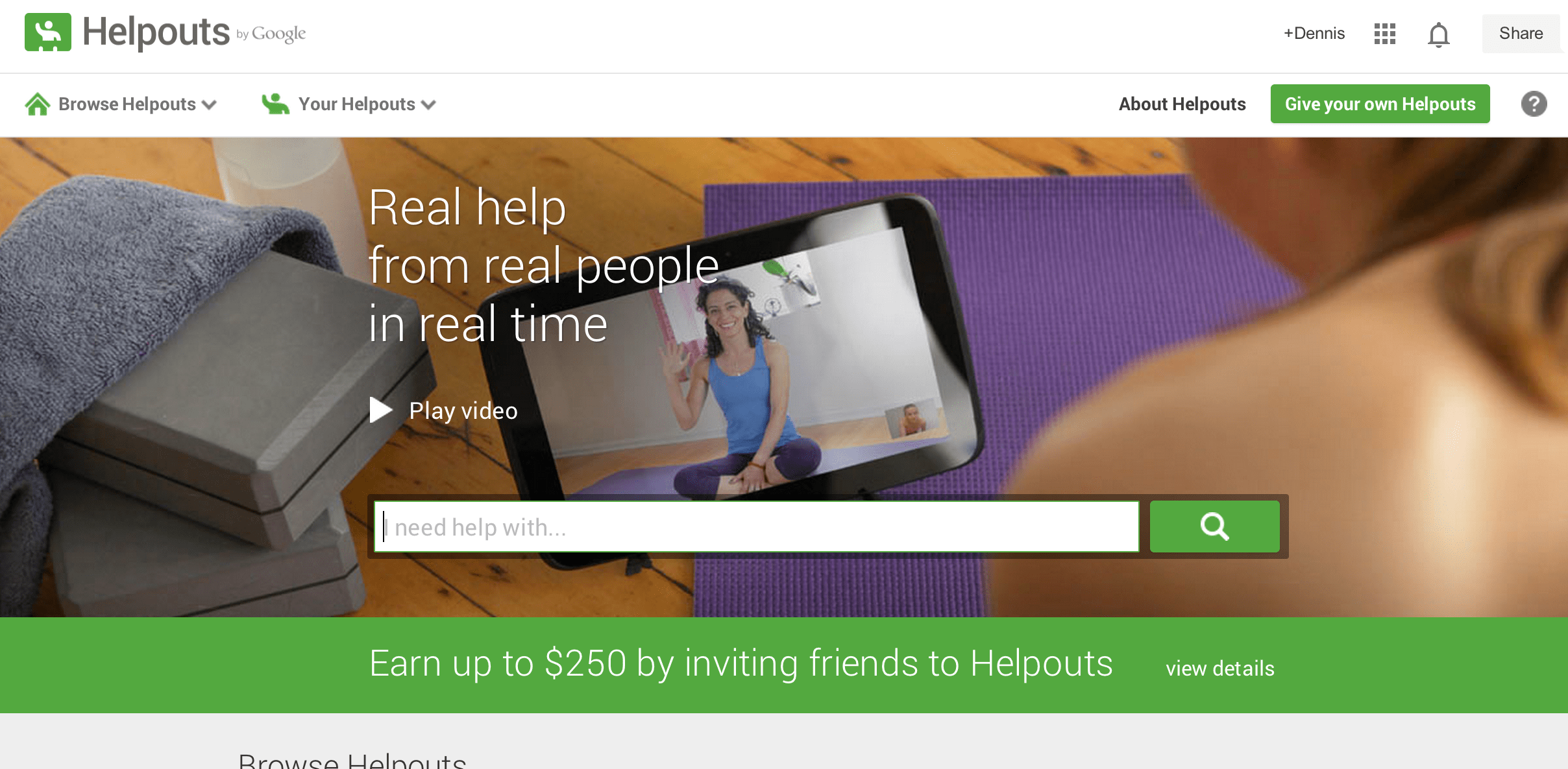 google+ helpouts service for marketing