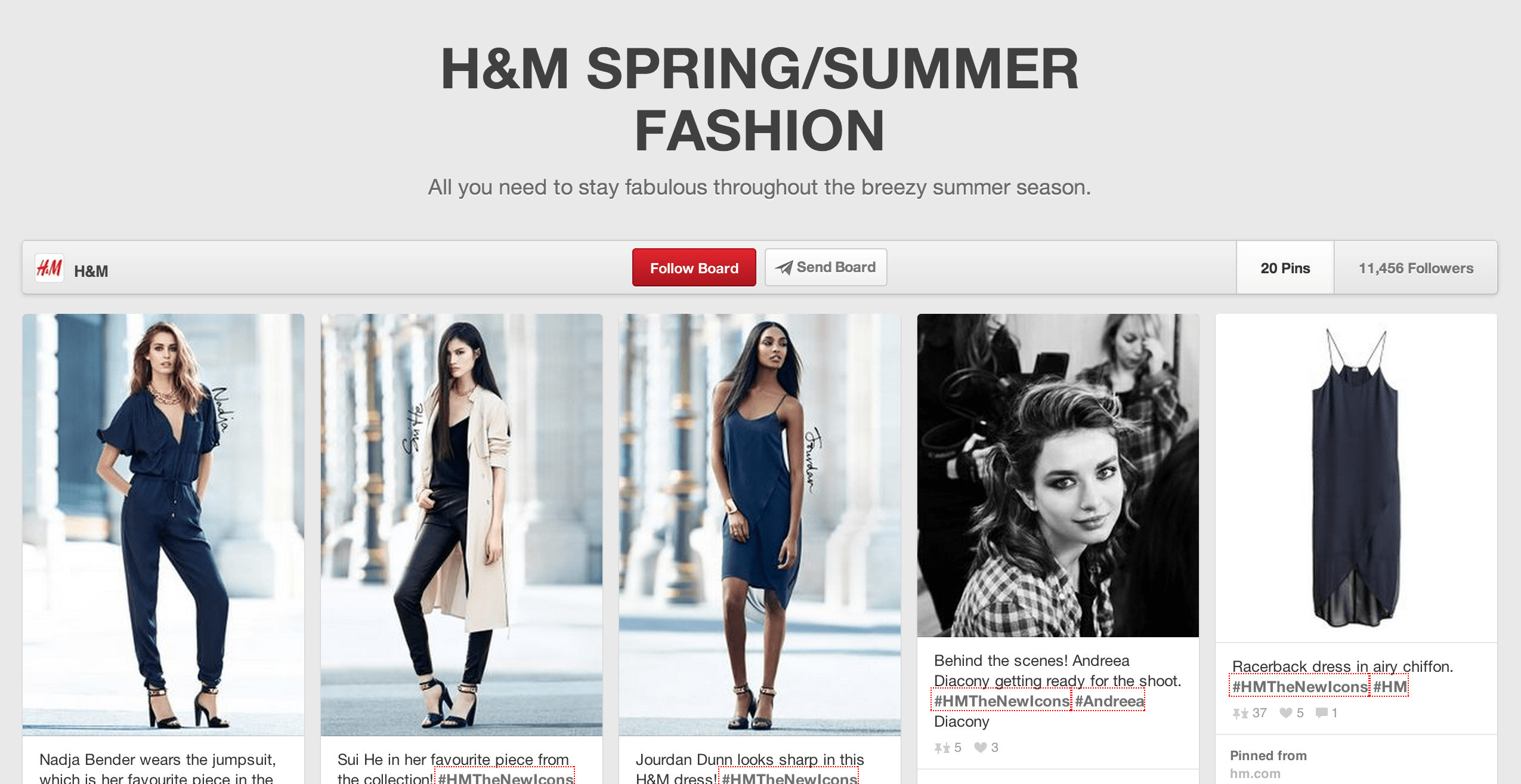 h&m marketing on pinterest