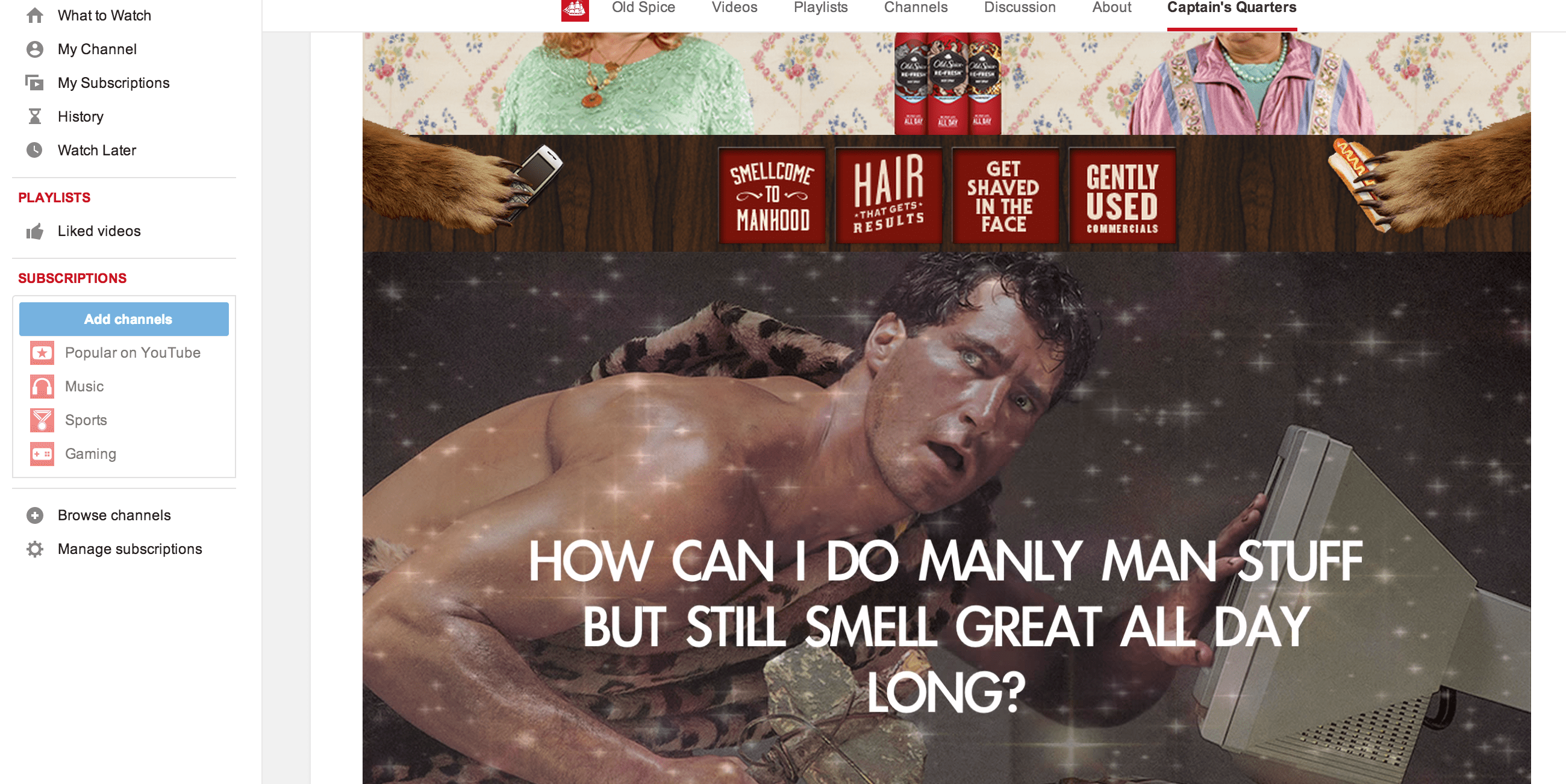 Old Spice Business Marketing Videos