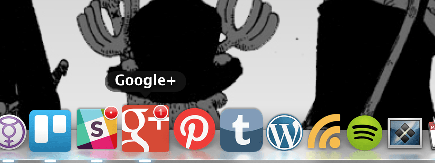 Google+ should be showing in your Mac Dock Now