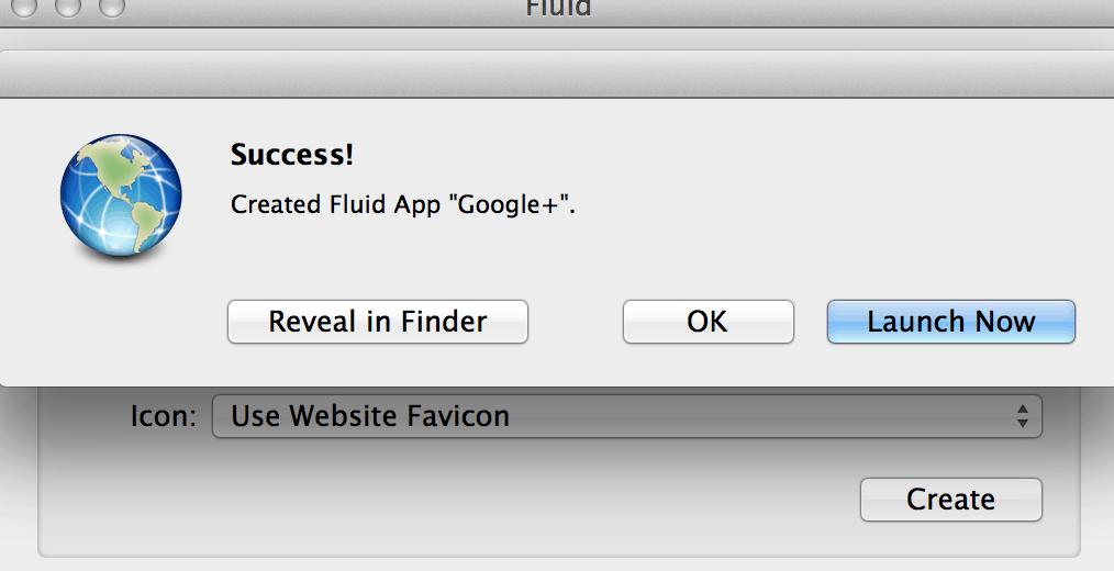 Launch Fluid App Google+