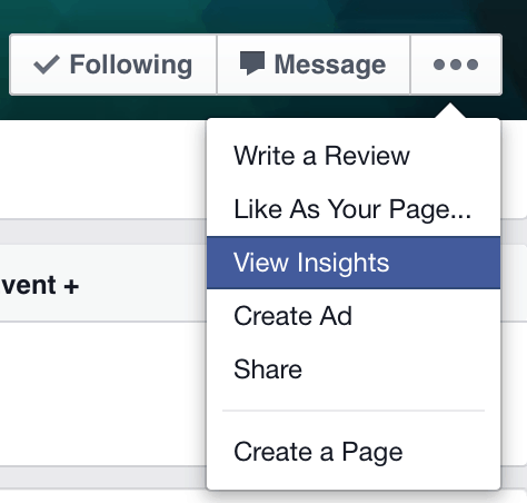 View Facebook Insights