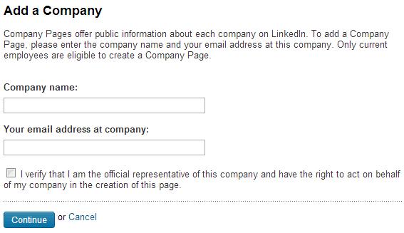 Add Company LinkedIn