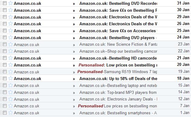 Amazon Inbox Marketing Email