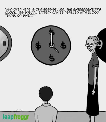 Entrepreneur's Clock