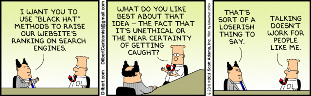 Black Hat SEO Dilbert's Cubicle