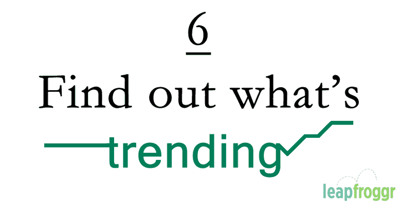 Trending Topics current content marketing SEO