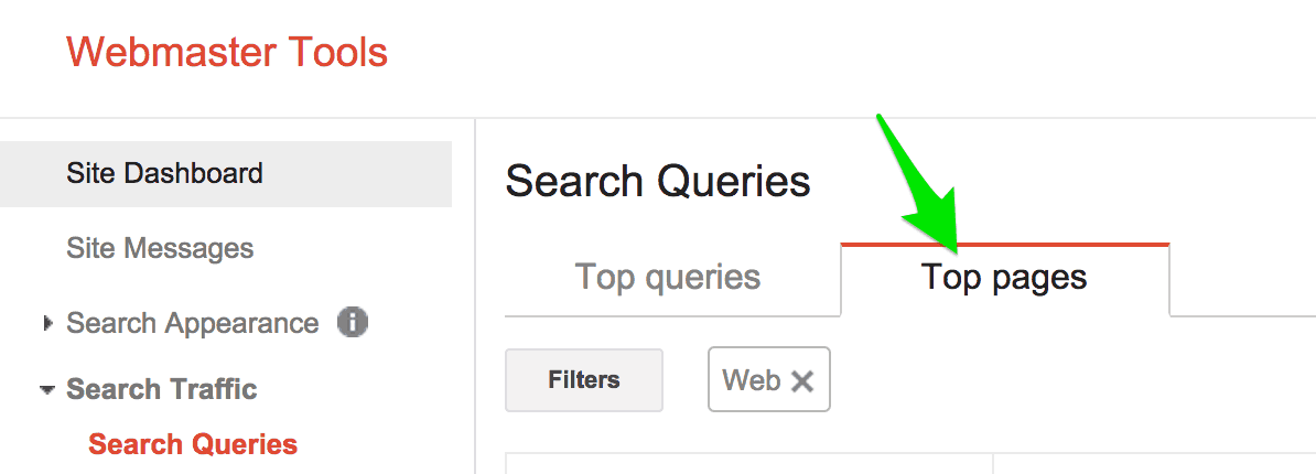 Google Webmaster Tools Can Show Your Top Pages