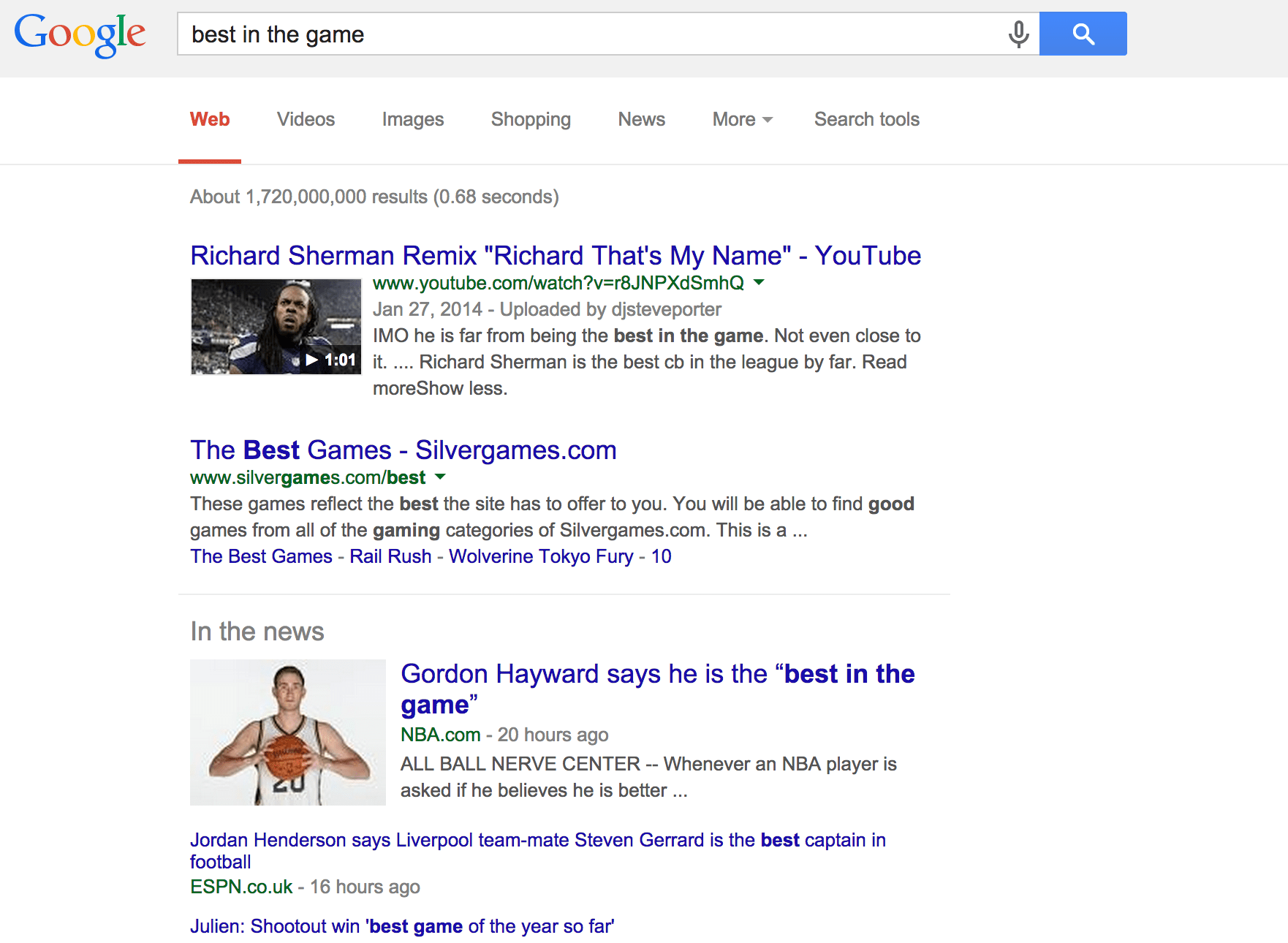 Showing up in Google News
