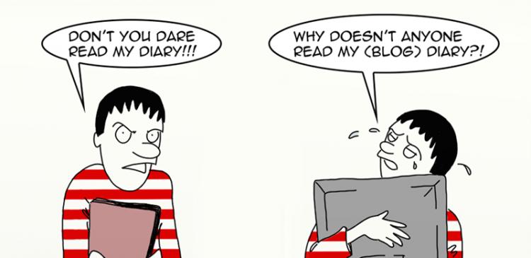 diaries blogging blog