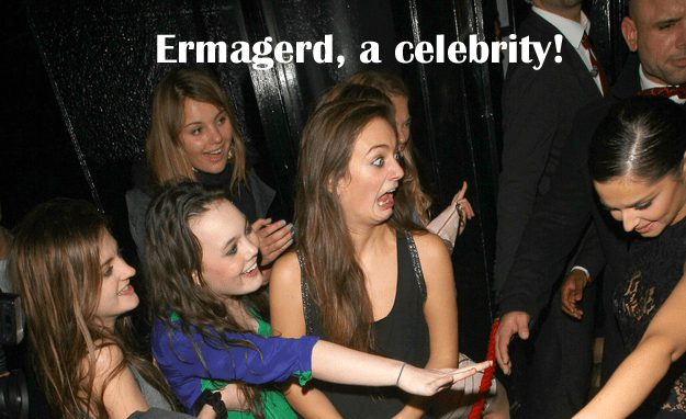 Celebrity blog ermagerd