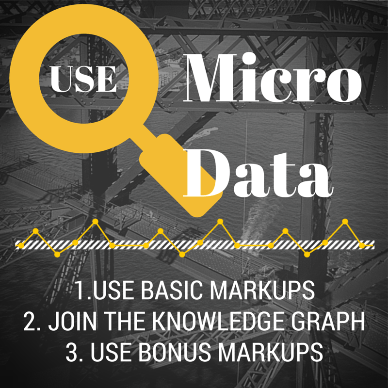 micro data seo markups knowledge graph