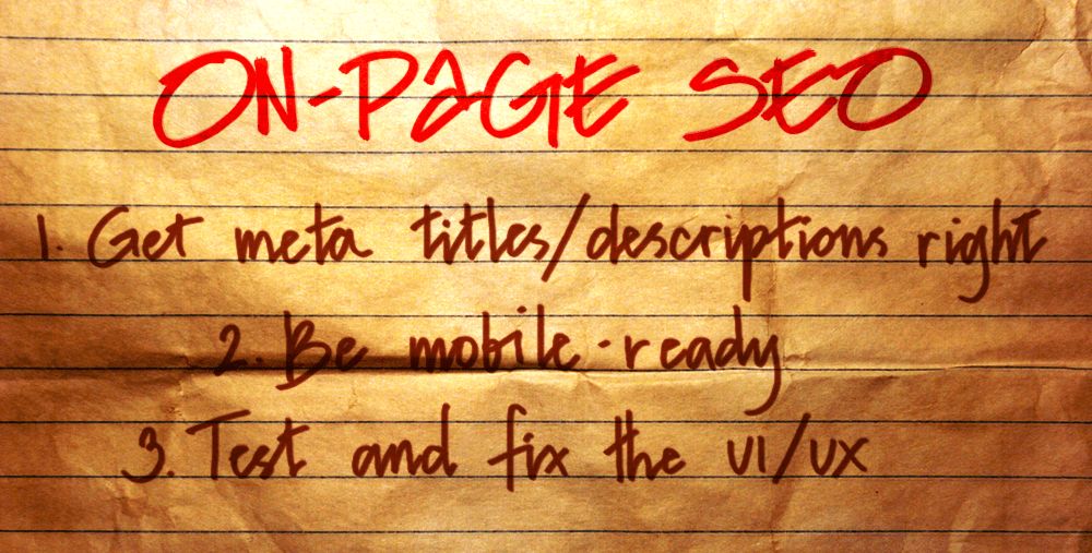 on-page SEO tips tweaks meta titles descriptions mobile-ready