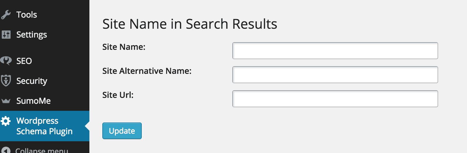 SiteName Schema Plugin