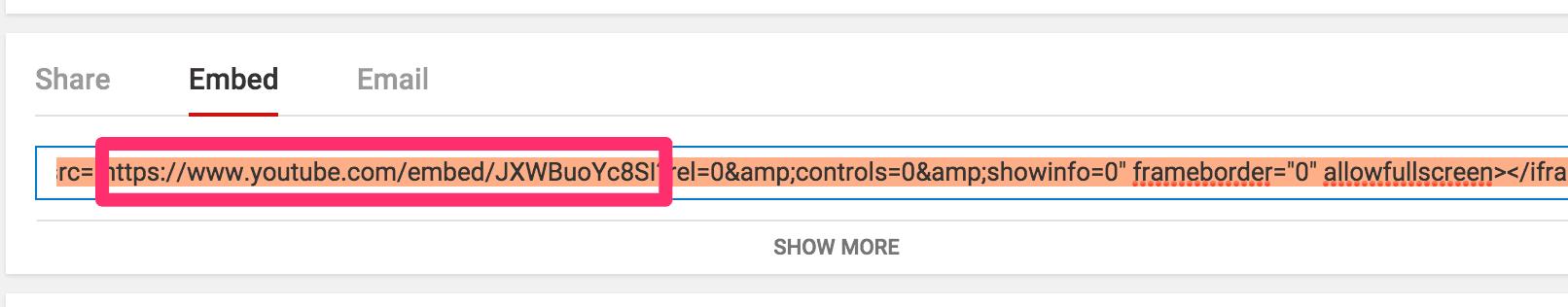 embed URL Schema